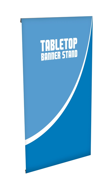 L Mini Table Top Banner Stand Banner Stands Display Aisle