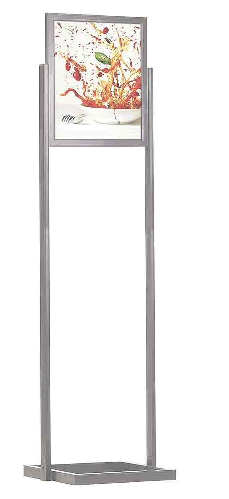 eco infoboard 18 w x 24 h 1 tier floor standing sign holders display aisle. Black Bedroom Furniture Sets. Home Design Ideas