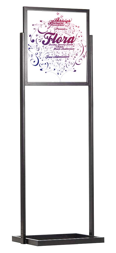 eco infoboard floor poster stands floor standing sign holders display aisle. Black Bedroom Furniture Sets. Home Design Ideas