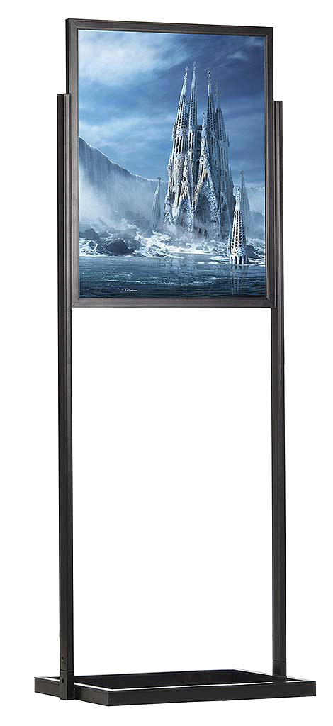 1 Tier Amp 2 Tier Double Sided Poster Sing Holder Stands