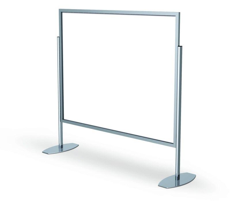 oversize free standing poster sign holder monster stands floor standing sign holders display. Black Bedroom Furniture Sets. Home Design Ideas