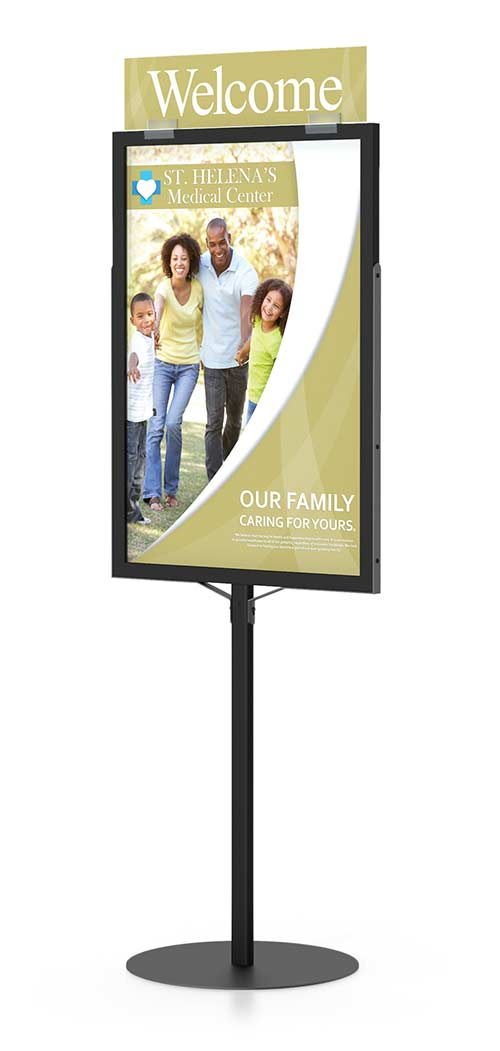 Monster Pedestal Sign Frame Stand | Floor Standing Sign Holders ...