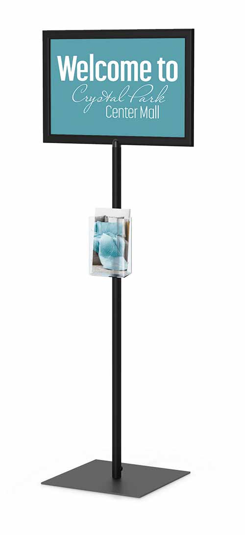 Perfex Pedestal Sign Frame Floor Standing Sign Holders