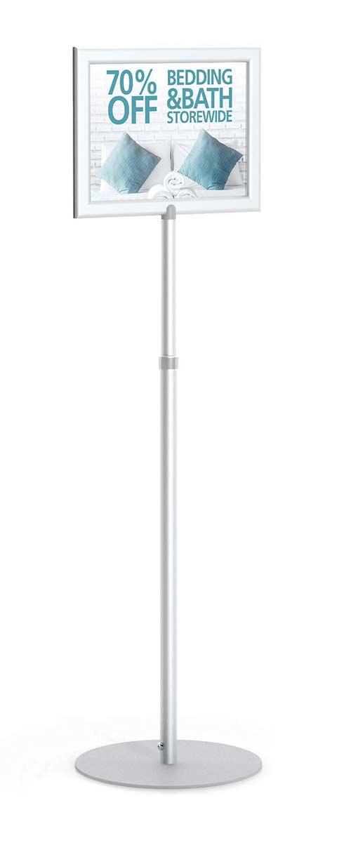 Perfex Pedestal SignFrame | Floor Standing Sign Holders | Display Aisle
