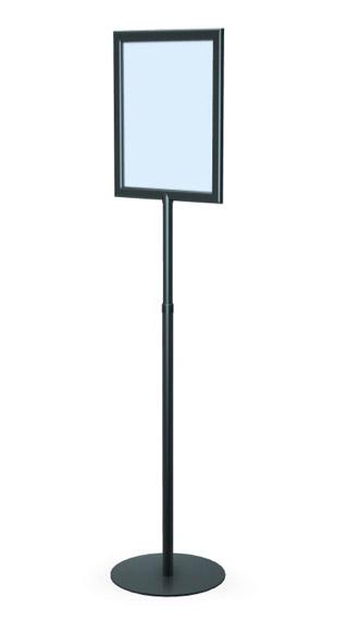 perfex pedestal sign frame floor standing sign holders display aisle. Black Bedroom Furniture Sets. Home Design Ideas