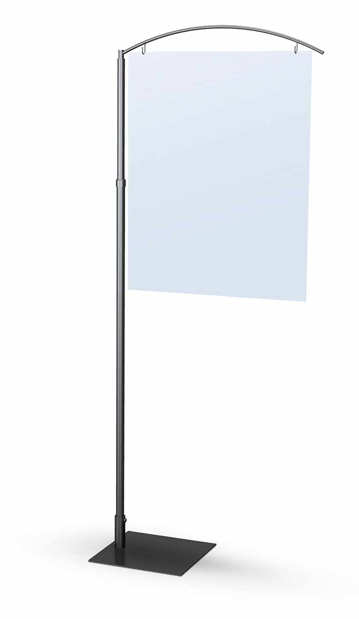 Quest Sign Stand Single Wing Floor Standing Sign Holders