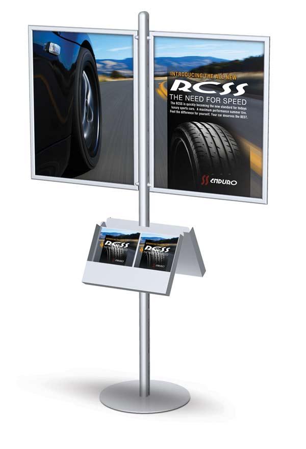 signpost side frame stands floor standing sign holders display aisle. Black Bedroom Furniture Sets. Home Design Ideas
