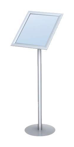 snapframe pedestal stand 11 x17 floor standing sign holders display aisle. Black Bedroom Furniture Sets. Home Design Ideas