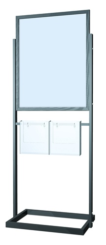 22x28 poster sign stand with brochure holders floor standing sign holders display aisle. Black Bedroom Furniture Sets. Home Design Ideas