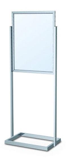 poster stands open base floor standing sign holders display aisle. Black Bedroom Furniture Sets. Home Design Ideas