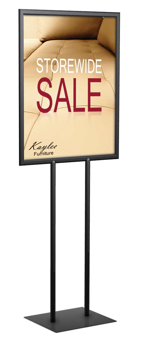 22x28 Double Sided Metal Poster Sign Holder | Floor Standing Sign ...