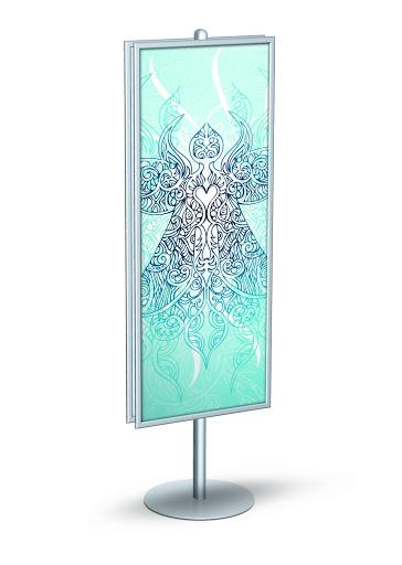 signpost frame stands floor standing sign holders display aisle. Black Bedroom Furniture Sets. Home Design Ideas