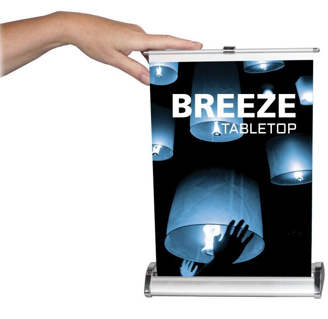 Breeze Retractable Tabletop Banner Stands