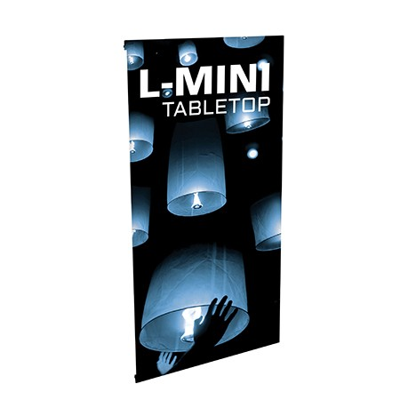 L Mini Table Top Banner Stand Tabletop Sign Holders