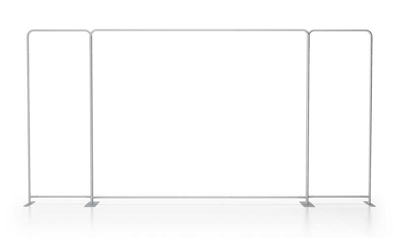 Wide panorama scenic fabric backwall for 20' tradeshow booth