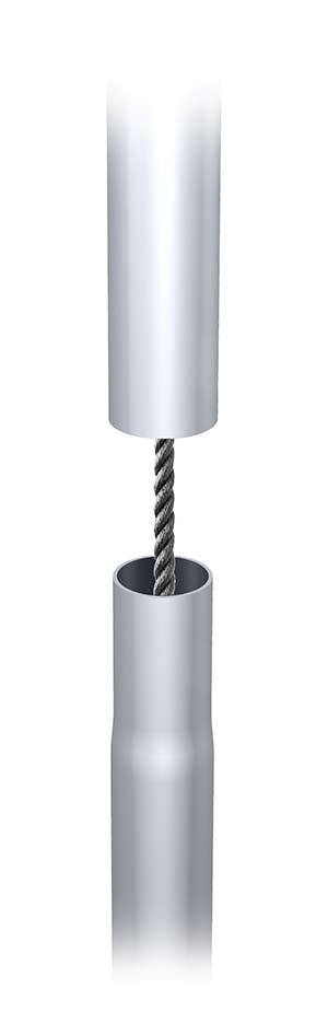 Tool free tubular frame structure