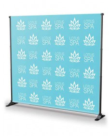 8x8 step and repeat backdrop banner stand BN5