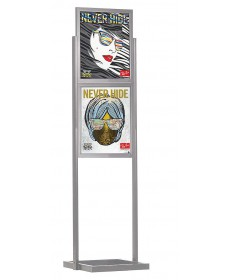 2 tier economy poster sign holder stand