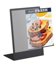 11x17 metal back tabletop sign holder with acrylic pocket