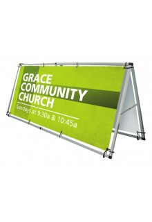 Monsoon Outdoor A Frame Banner Display Stand Outdoor