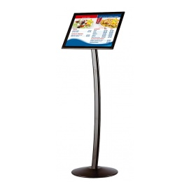 Curved Menu Board Stand 11 Quot X17 Quot Floor Standing Sign