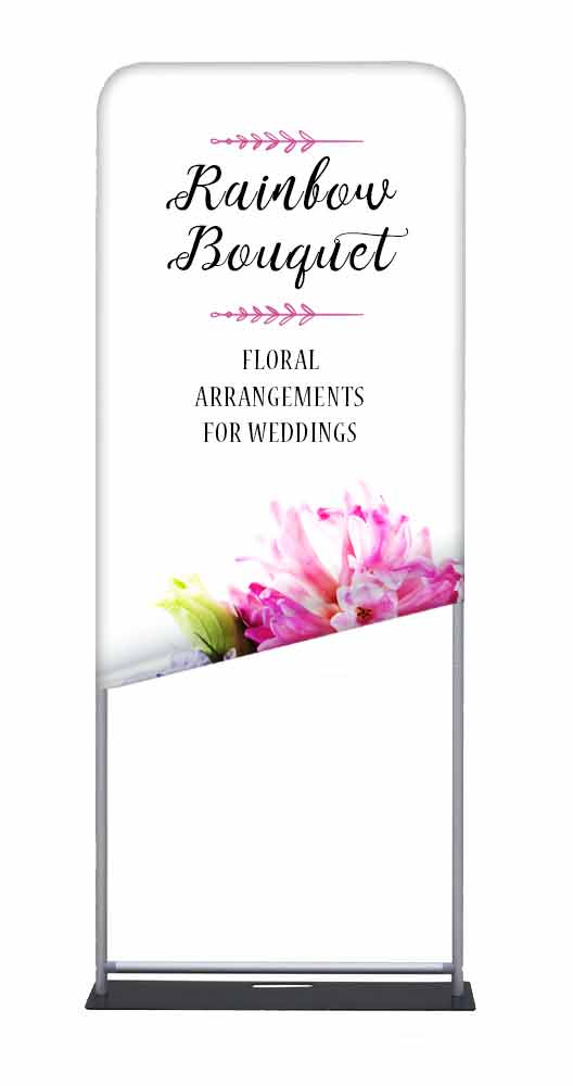 Tension Fabric Banner Stand 3wx75h With 2 Sided Banner Tension